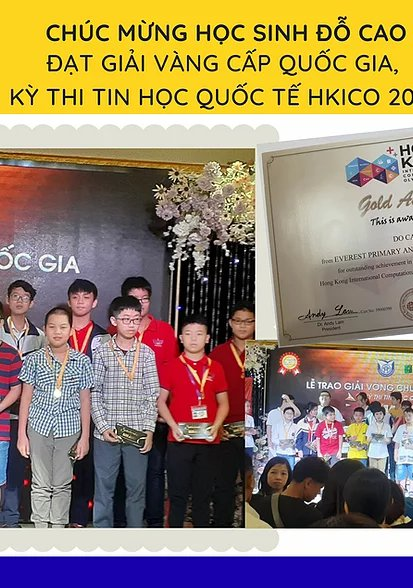 DO CAO  – WERE NATIONAL GOLDEN AWARDS IN HKICO International Informatics OLYMPIC Exam 2020